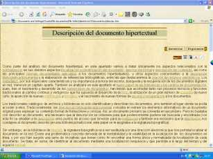 descripci�n documento hipertextual