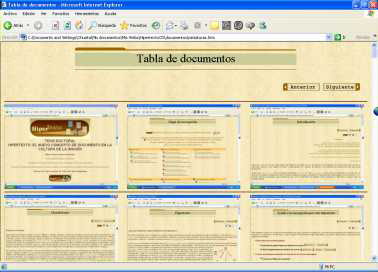 tabla de documentos